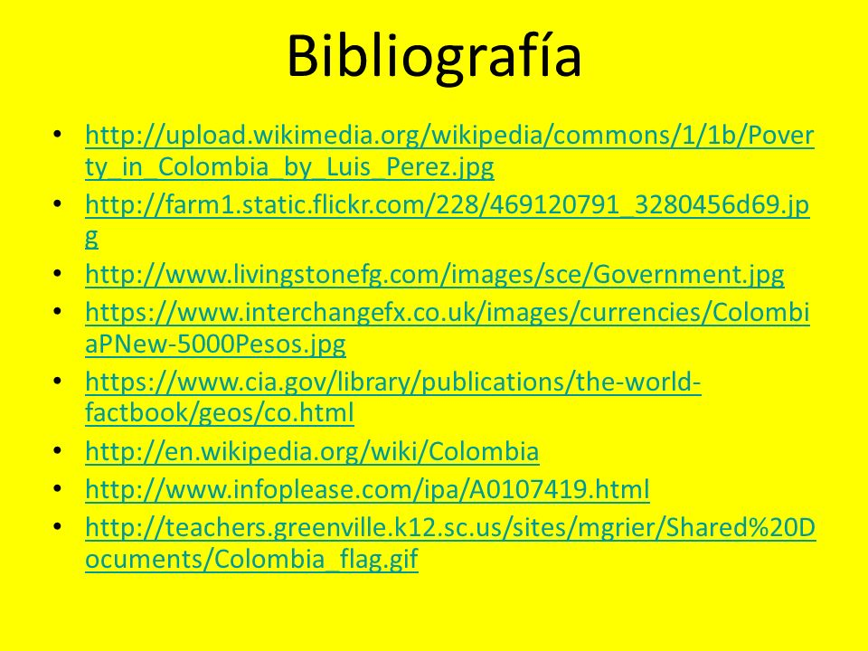 Bibliografía http://upload.wikimedia.org/wikipedia/commons/1/1b/Poverty_in_Colombia_by_Luis_Perez.jpg.