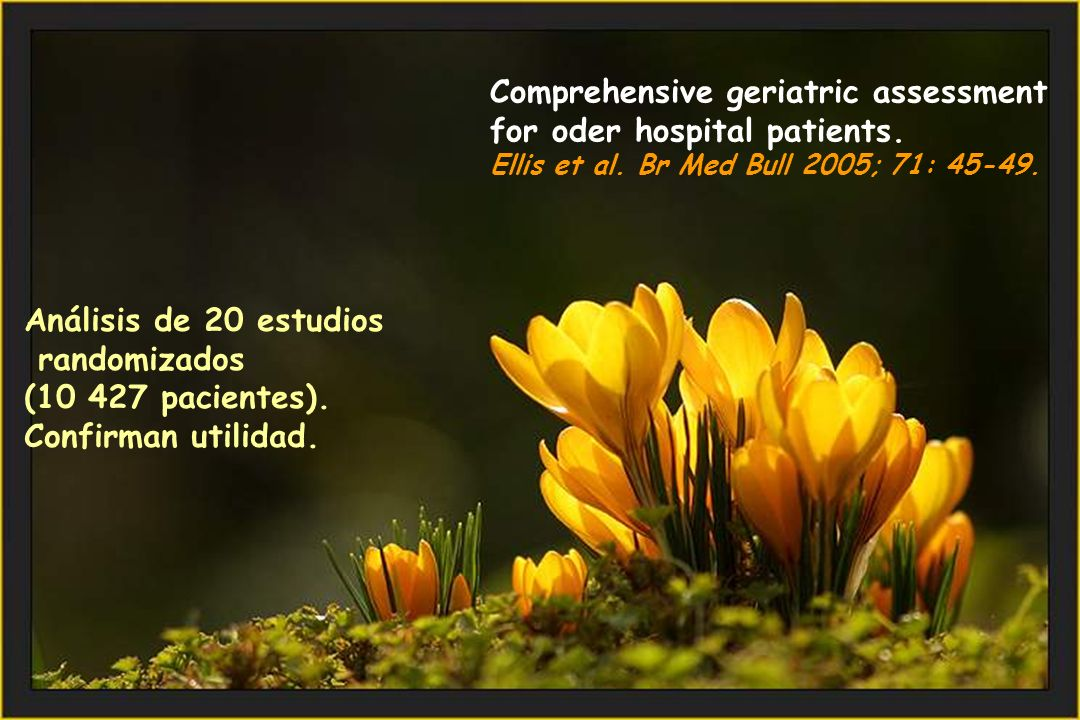 Comprehensive geriatric assessment for oder hospital patients.