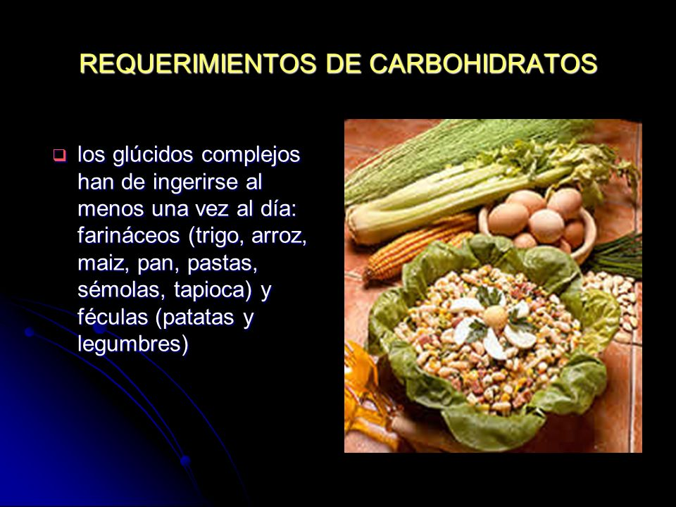 REQUERIMIENTOS DE CARBOHIDRATOS
