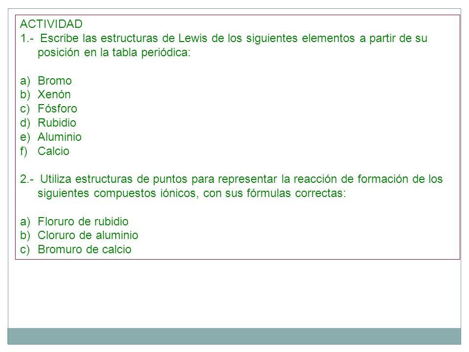 Tabla peridica ppt descargar escribe las estructuras de lewis de los siguientes elementos a partir de urtaz Images
