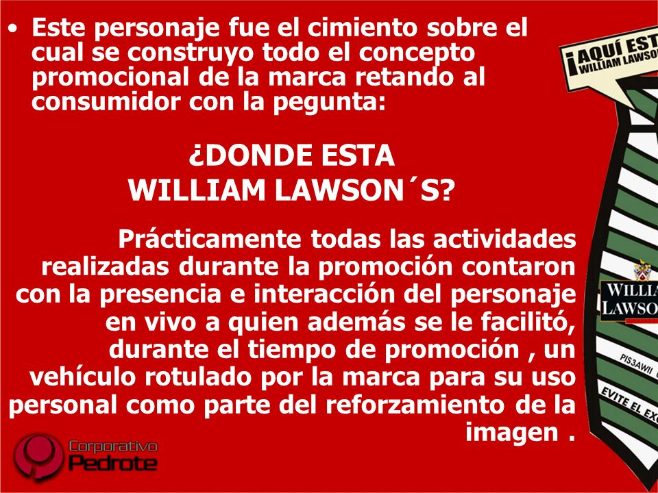 ¿DONDE ESTA WILLIAM LAWSON´S