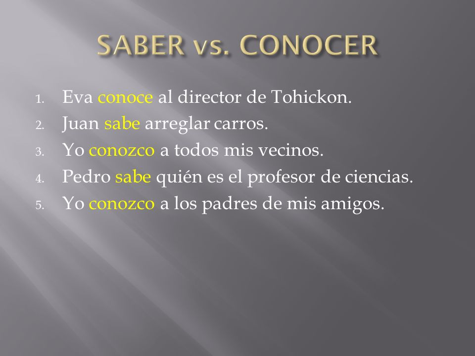 SABER vs. CONOCER Eva conoce al director de Tohickon.