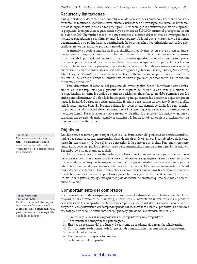 C A P2Í T U L O Definición del problema en la investigación de ...
