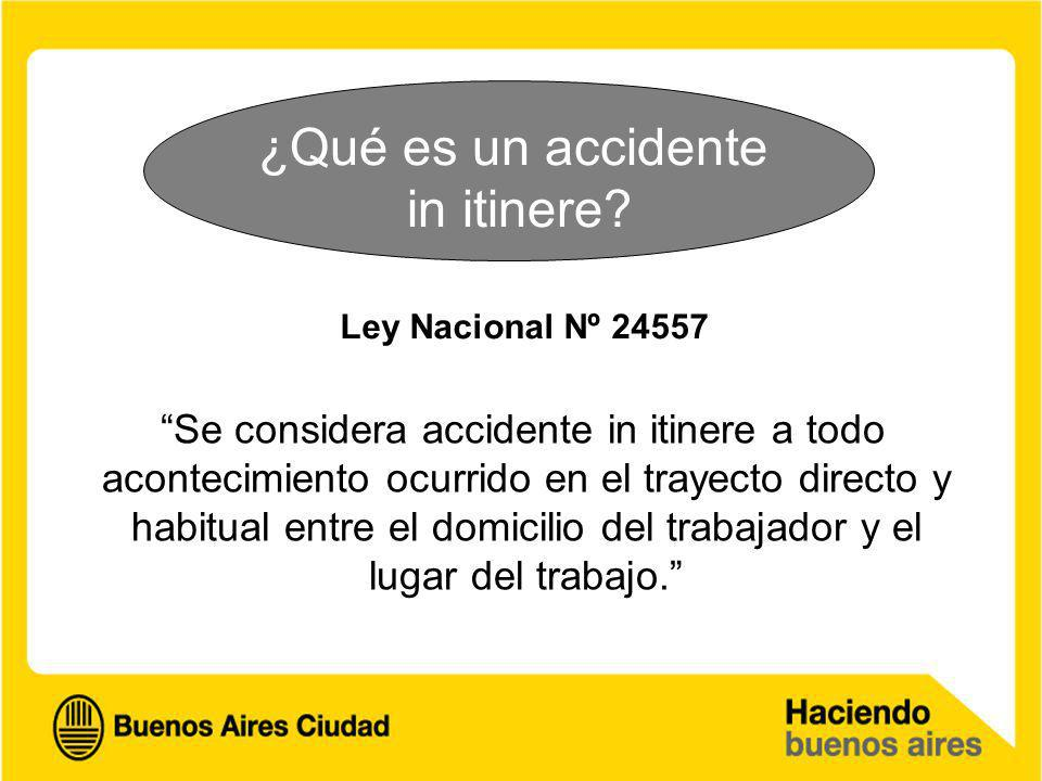¿Qué es un accidente in itinere