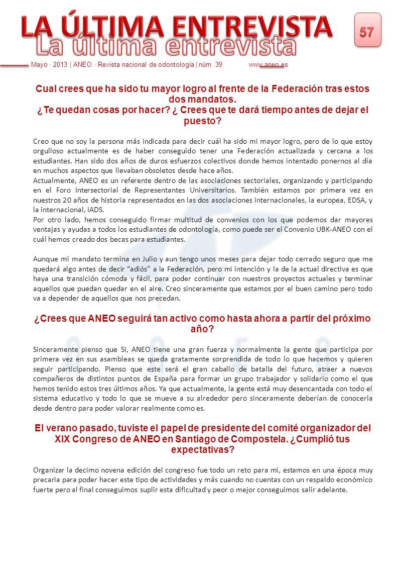 aneo NÚMERO 39 REVISTA NACIONAL DE ODONTOLOGÍA MAYO ppt descargar