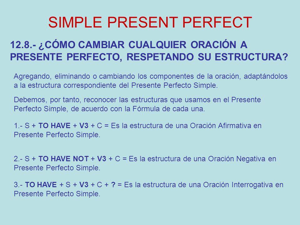 El Tiempo Perfecto Simple Ppt Video Online Descargar