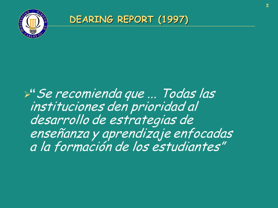 DEARING REPORT (1997)