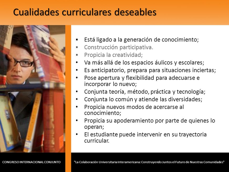 Cualidades curriculares deseables