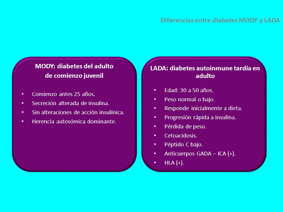diabetes autoinmune tardía del adulto