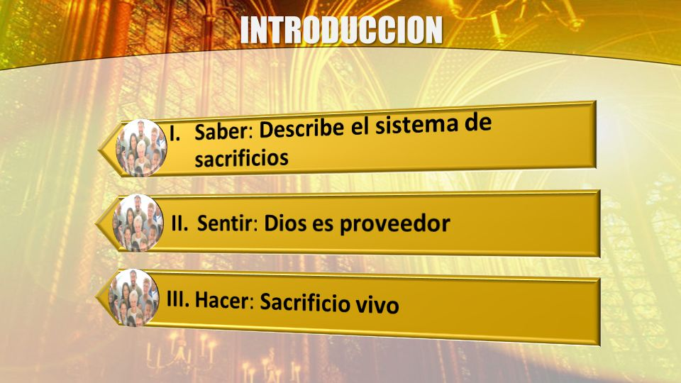 INTRODUCCION I. Saber: Describe el sistema de sacrificios