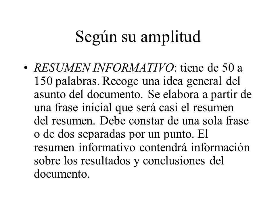 Resumen: Definición Un resumen es la representación abreviada y ...