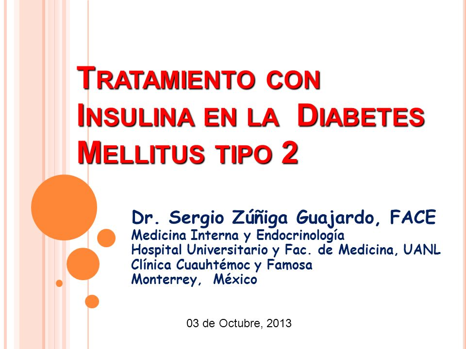 manejo de la diabetes tipo 1 ppt insulina