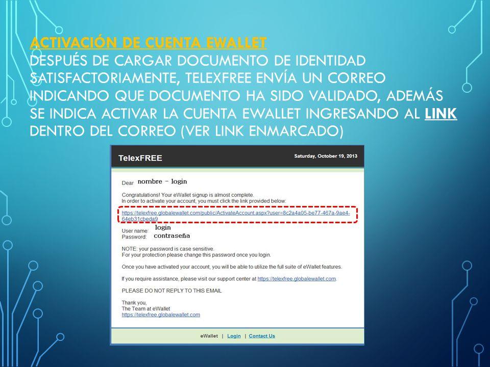 INSCRIPCION DE EWALLET Y REGISTRO DE TARJETA DE CREDITO A EWALLET ...