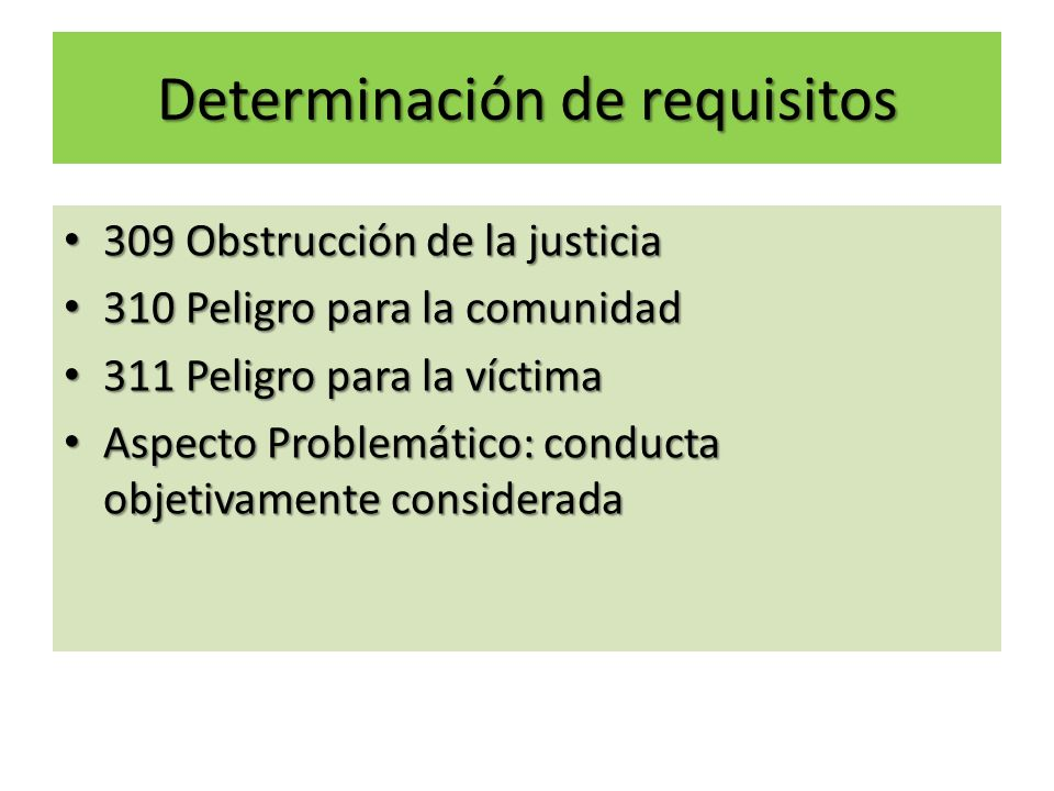 Determinación de requisitos