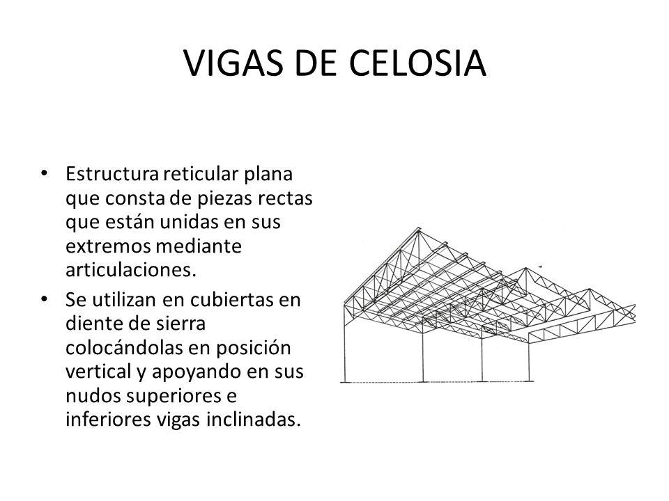 VIGAS DE CELOSIA Estructura reticular plana que consta de piezas ...