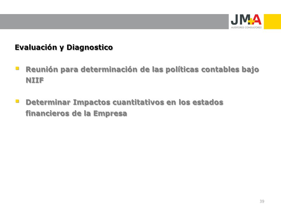 Evaluación y Diagnostico