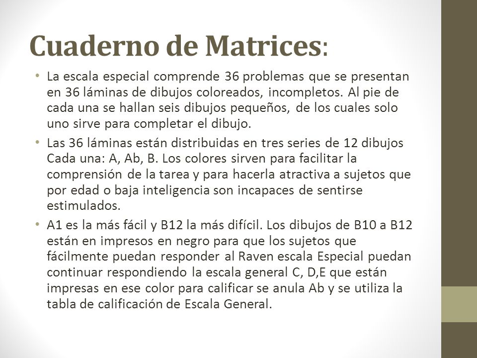 Cuaderno de Matrices:
