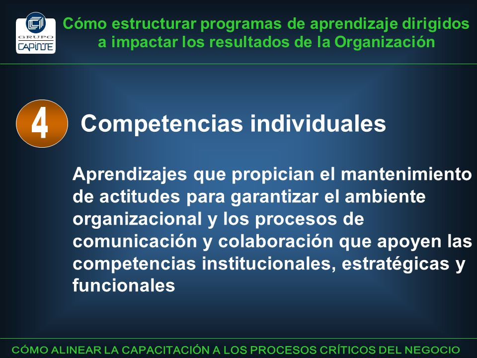 Competencias individuales 4