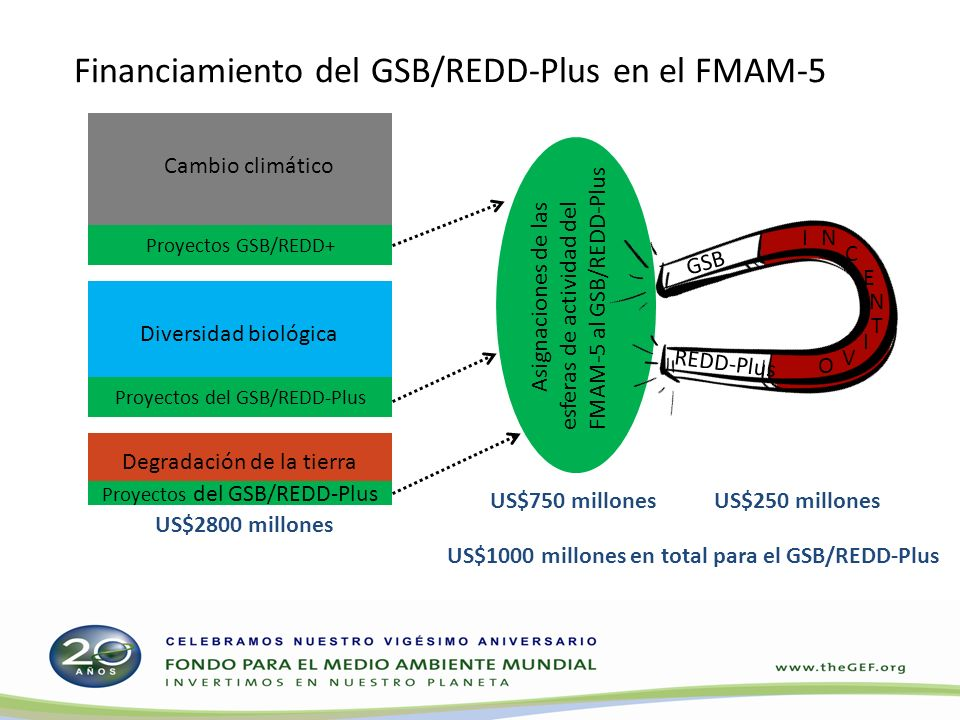 Financiamiento del GSB/REDD-Plus en el FMAM-5