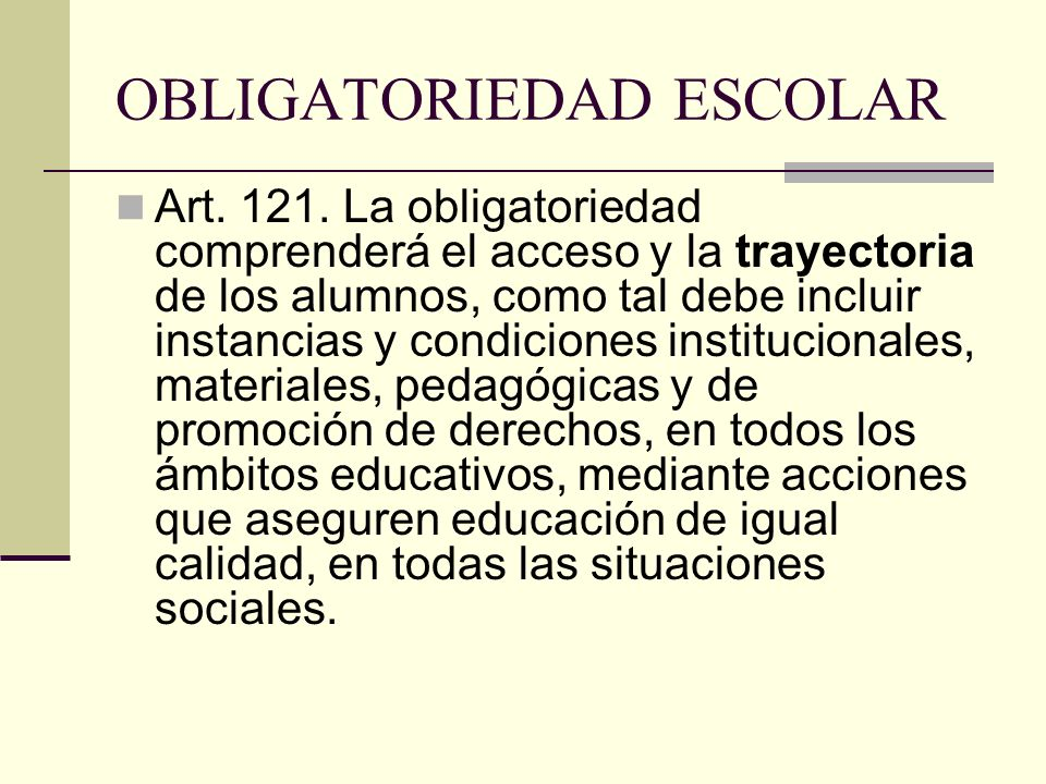 OBLIGATORIEDAD ESCOLAR