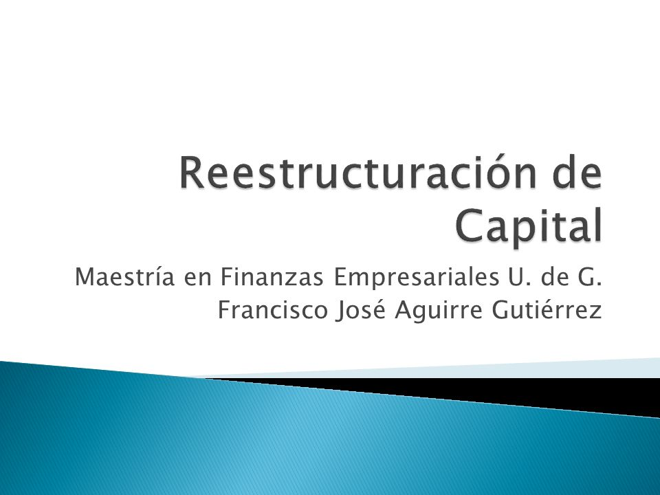 Reestructuración de Capital