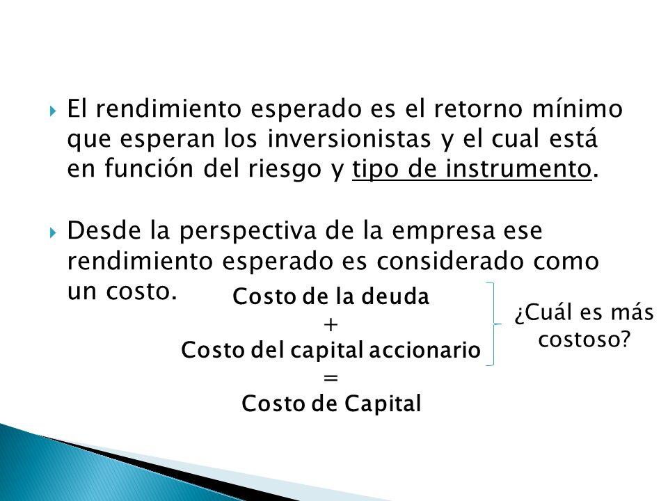 Costo del capital accionario