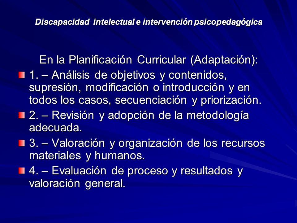 DISCAPACIDAD INTELECTUAL  ELEMENTOS PARA UNA VALORACIÓN EDUCATIVA ... ddeddd272e1