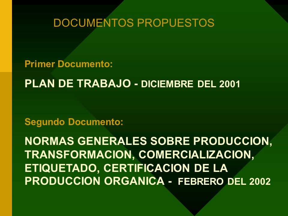 DOCUMENTOS PROPUESTOS