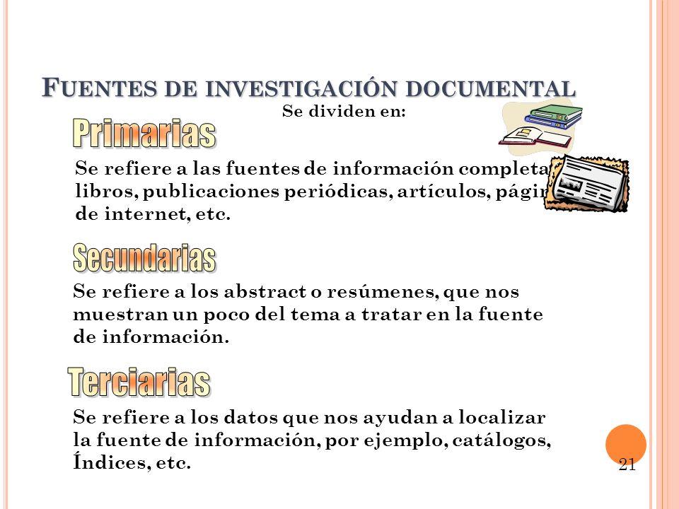 Recogida de datos para fuentes no documentales