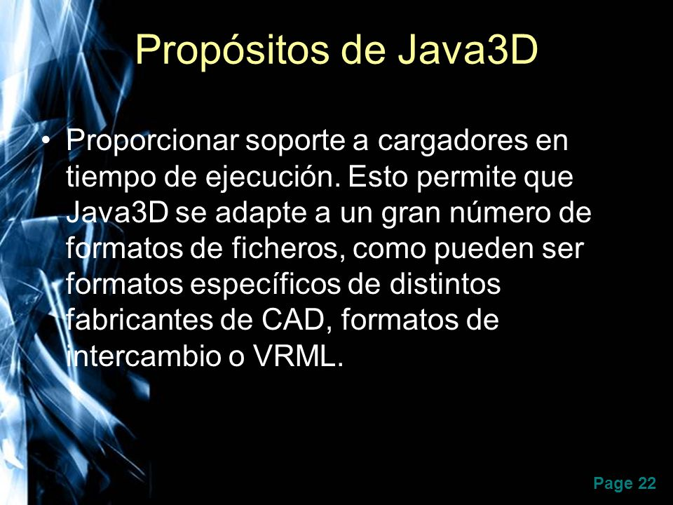 Propósitos de Java3D