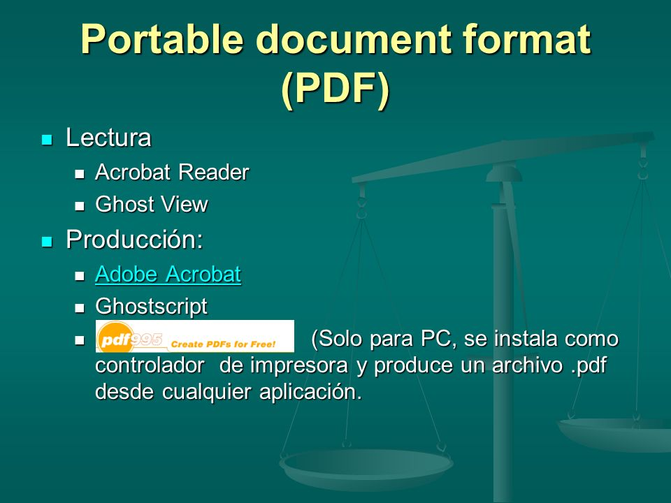 Portable document format (PDF)