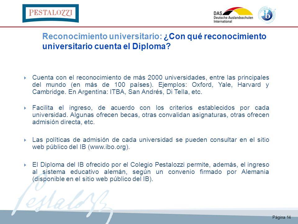 El Bachillerato Internacional (IB) en el Colegio Pestalozzi - ppt ...