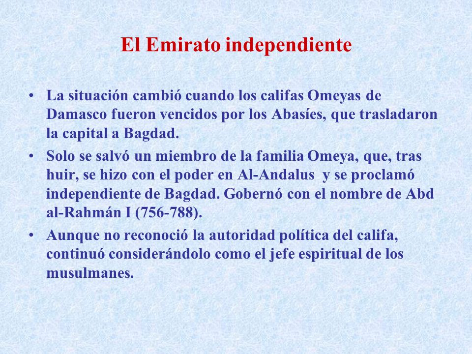 El Emirato independiente