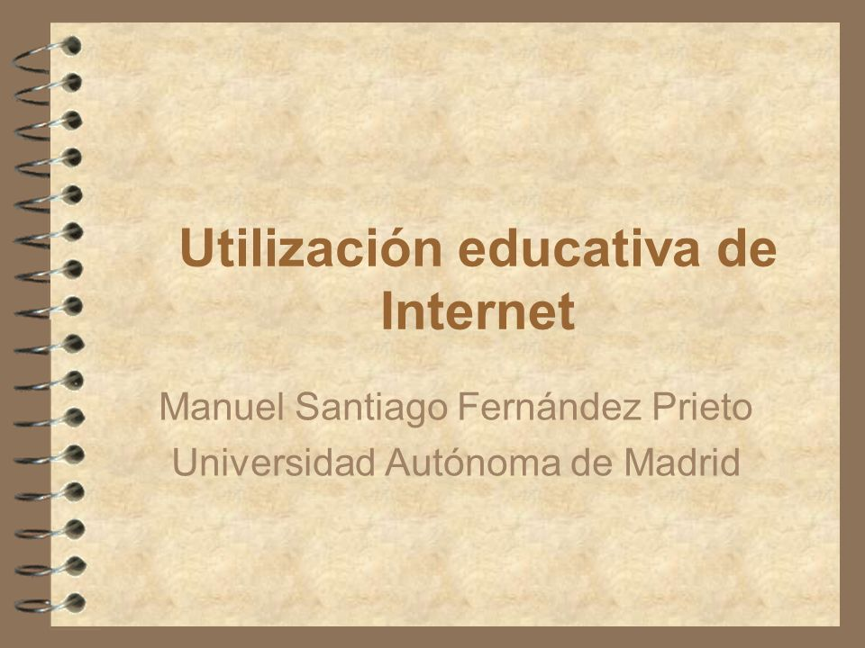 Utilización educativa de Internet