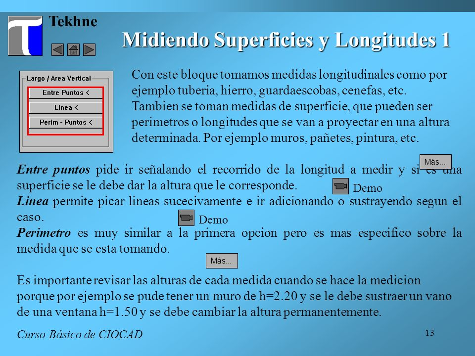 Midiendo Superficies y Longitudes 1