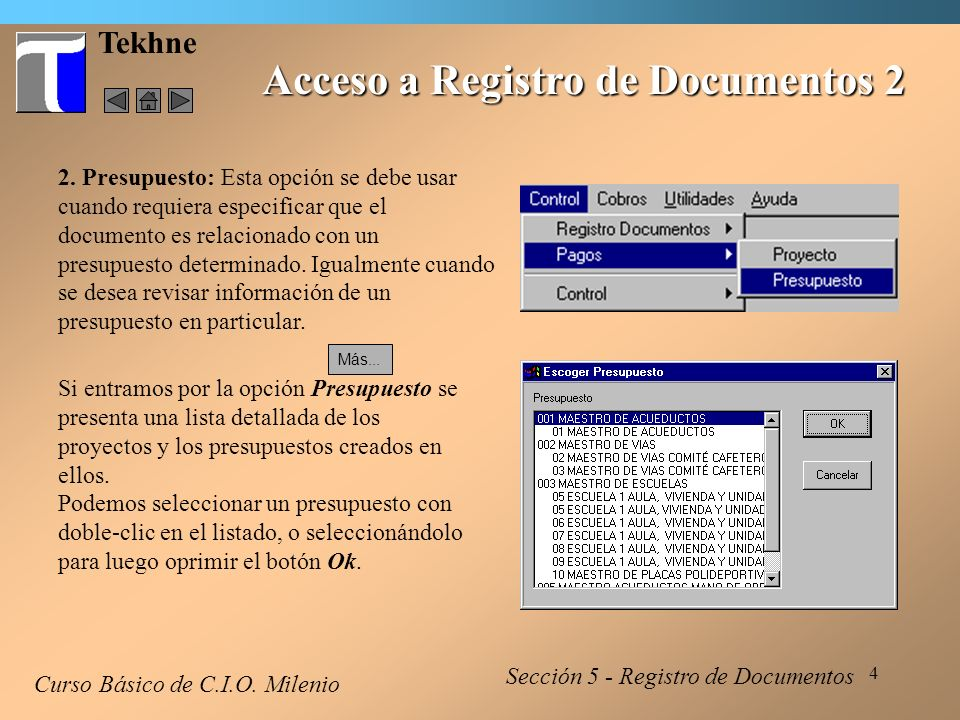 Acceso a Registro de Documentos 2