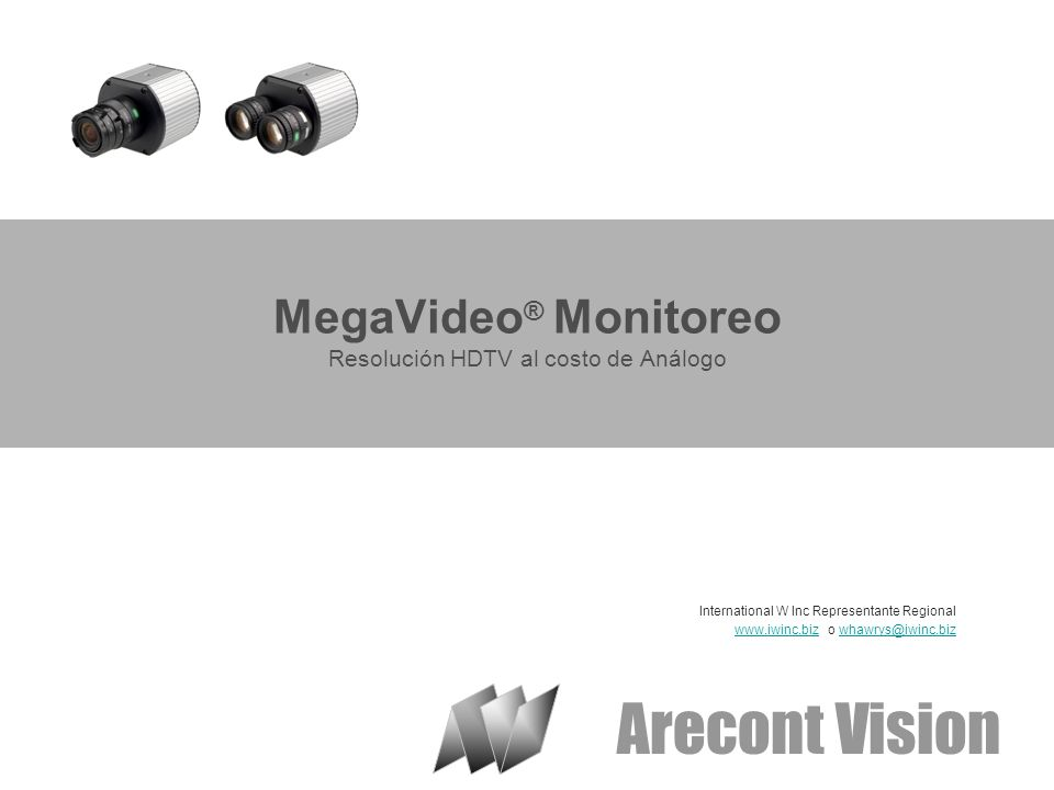 MegaVideo® Monitoreo Resolución HDTV al costo de Análogo