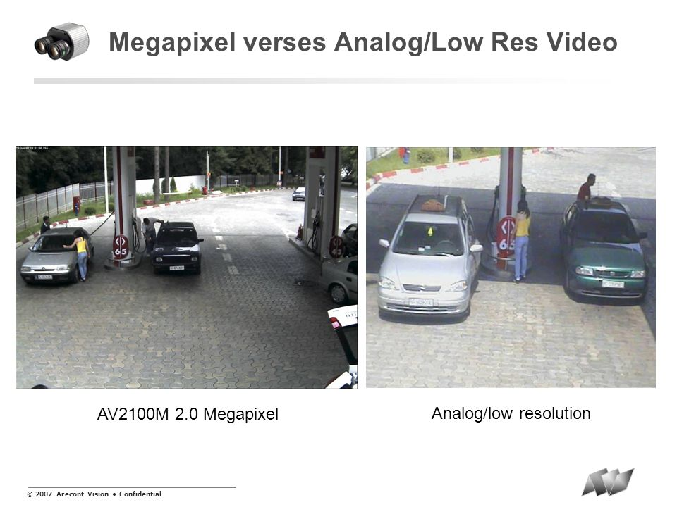 Megapixel verses Analog/Low Res Video