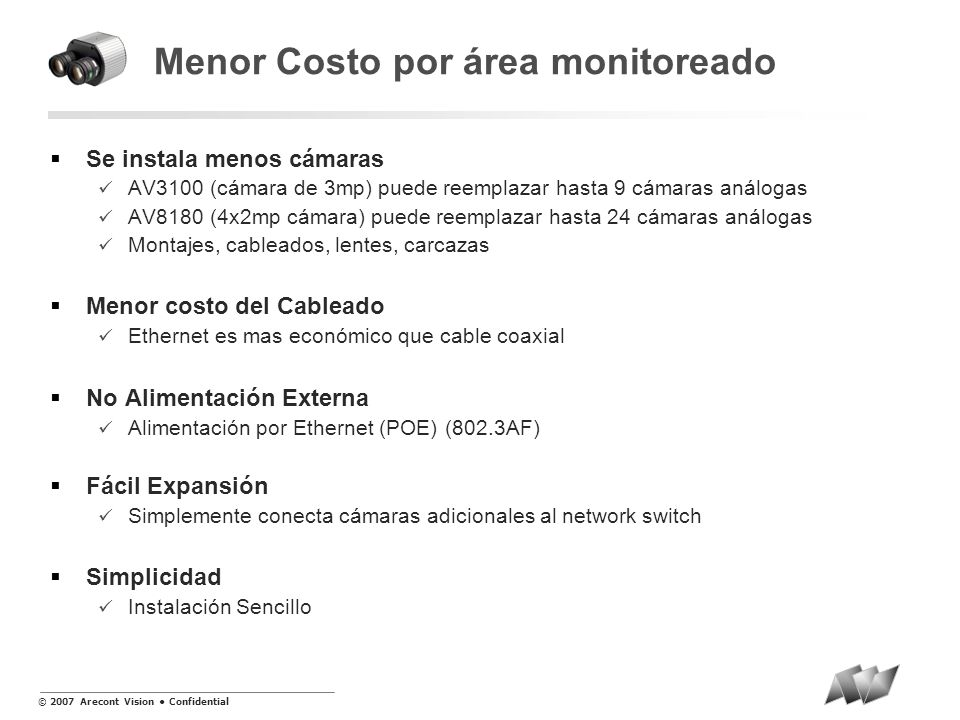 Menor Costo por área monitoreado