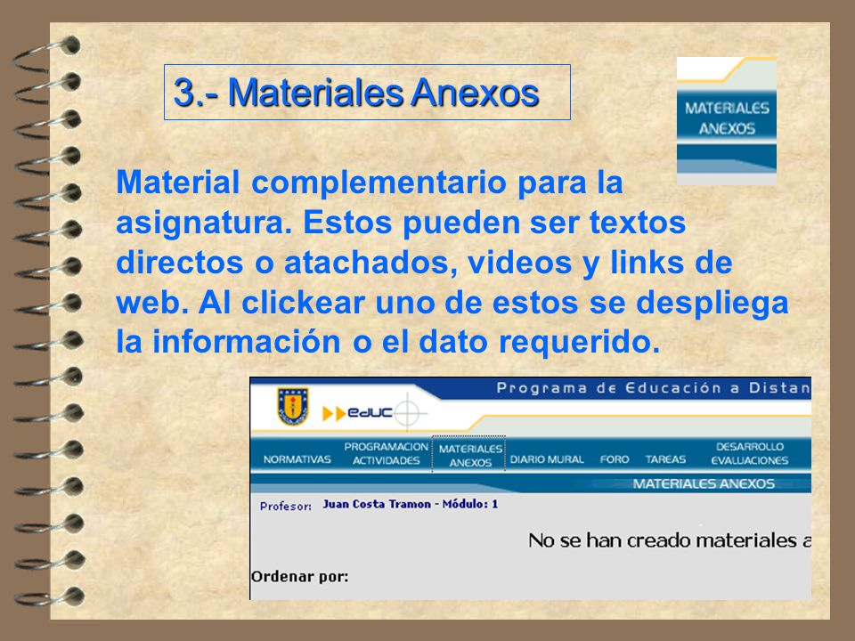 3.- Materiales Anexos
