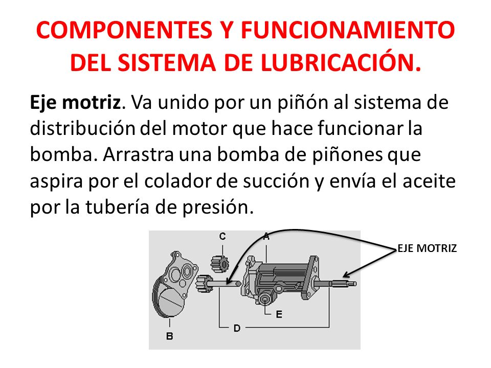 Sistema de lubricación motor otto