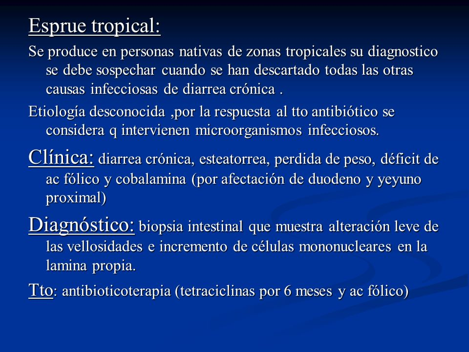 Esprue tropical: