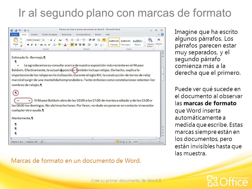 Curso de Microsoft® Word ppt descargar