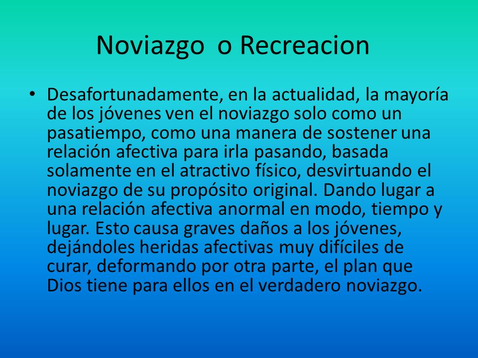 Noviazgo o Recreacion