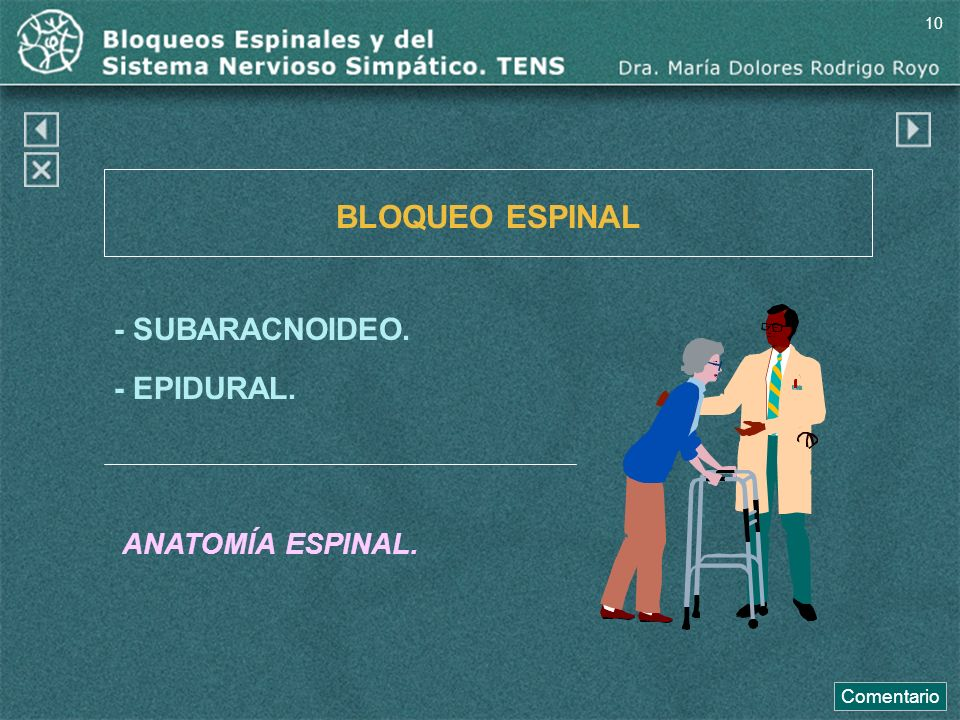 1.- BLOQUEO: Espinal. Sistema Simpático. 2. TNS. - ppt descargar