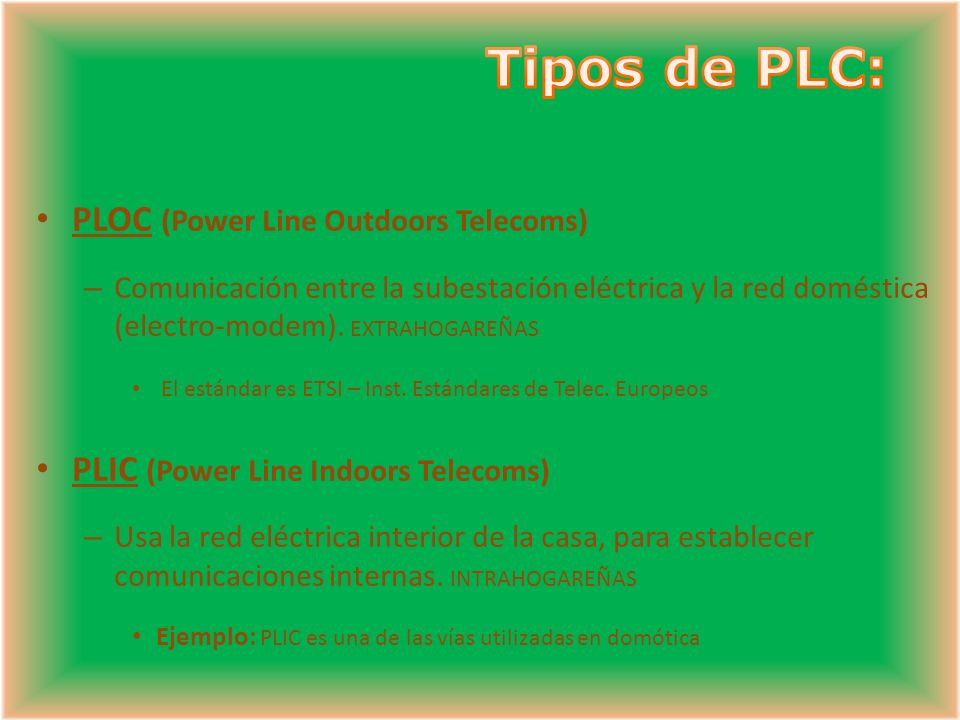 Tipos de PLC: PLOC (Power Line Outdoors Telecoms)