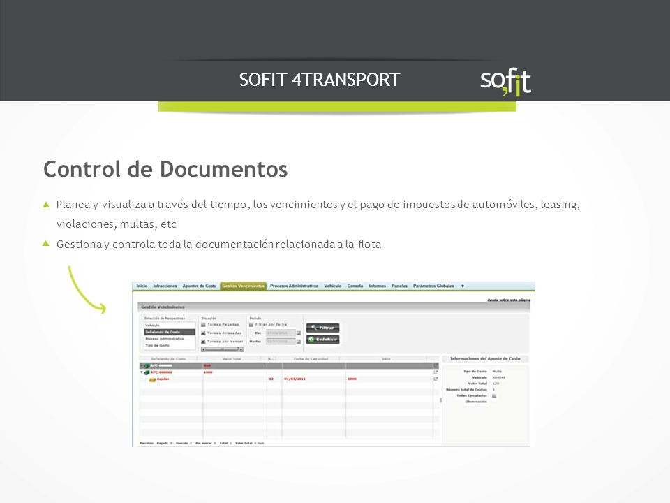 Control de Documentos SOFIT 4TRANSPORT