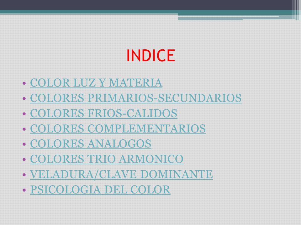 INDICE COLOR LUZ Y MATERIA COLORES PRIMARIOS-SECUNDARIOS - ppt descargar
