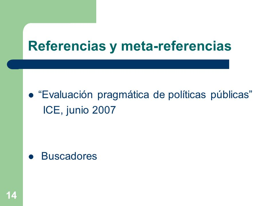Referencias y meta-referencias