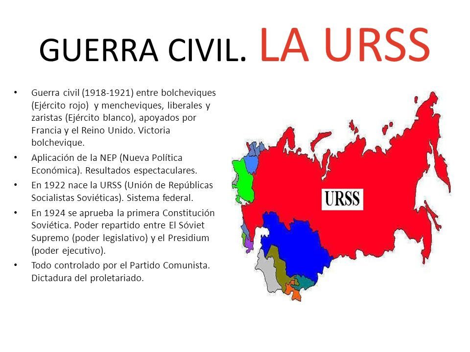 GUERRA CIVIL. LA URSS